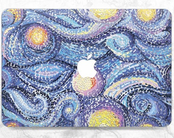 Van gogh macbook Macbook pro case Macbook case art Macbook Air 13 case Macbook hard case Van gogh painting Case Pro Retina 15 Macbook blue