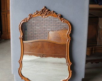Mirror / French Provincial Mirror / Vintage Mirror / Carved Wood Framed Mirror