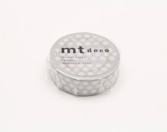 mt deco - hougan dot grey - washi masking tape - 15mm x 10m x 1 roll