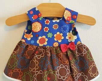 Luvabella Doll Clothes - Bold Floral Dress