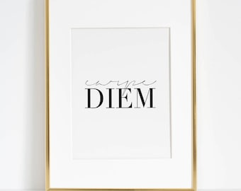 CARPE DIEM SIGN, Famous Quote,Seize The Day,Inspirational Quote,Motivational Quote,Office Decor,Home Decor,Relax Sign,Most Sold Item,Quotes