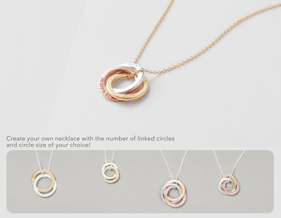 rose necklace happiness perfect circle boutique necklaces en gold