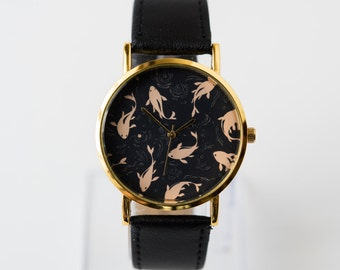 Women's Watch - Unique Watch - Wrist Watch - Boyfriend Watch - Goldfish