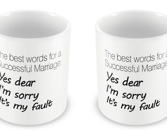 The best words for a successful Marriage Mug- Celebrations Gift Present birthday Christmas anniversary valentines