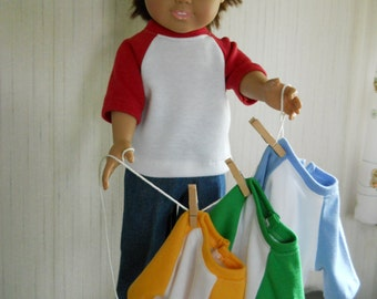 "18"" Boy Doll Clothes Jeans with Jersey Your Color Choice for American Girl Type Dolls"