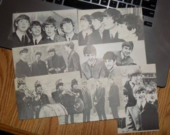 Vintage 1960s Beatles Exhibit Arcade Cards Lot of 7 Different See Pics John Paul  George and Ringo