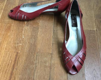 vintage 80s van eli made in italy slip on womens shoes size 9