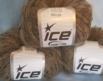 Mohair blend yarn in shades of brown