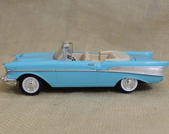 1957 Chevrolet Chevy Bel Air Convertible Car In Blue   Limited Edition  Collectible Car
