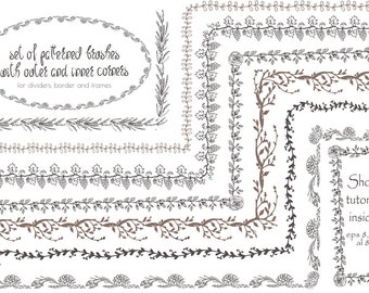 Set of vector patterned brushes