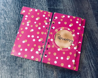 Month DIVIDERS, Disc Bound Dividers, Laminated Monthly Dividers, Calendar Dividers, Planner Dividers, TUL Dividers, Happy Planner Dividers