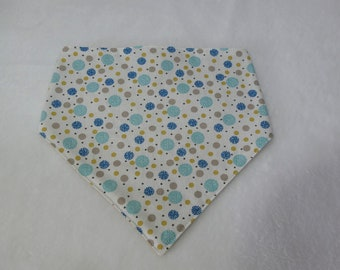 Blue bubble bandana bib