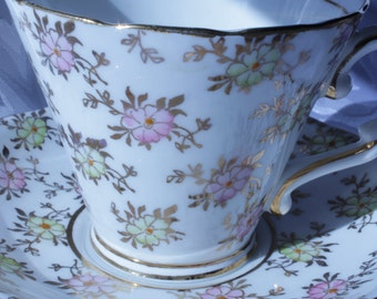 Tea Cup and Saucer Gladstone England Bone China