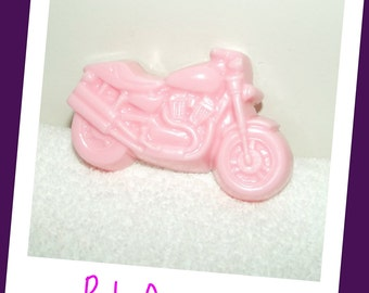 Ride On Motorcycle Soap, Born to Ride Gift, Pink Motorcycle Soap, Pink Biker Soap, Wedding Favor, Party Favor for Her, Bridal Favor