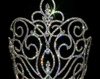 Style # 12746 - Large Rising Fleur De Lis Crown