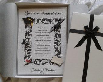 Graduation or Special Achievement Congratulation Card A Personalised Keepsake