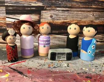 Wooden Peg People Inspired by Teen Witch