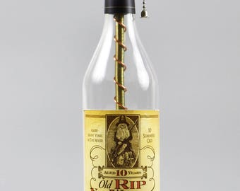 Pappy Van Winkle 10 year Bourbon Bottle Lamp/handmade/man cave/light/bourbon lamp/bottle light/liquor/bar/gifts for men/whiskey bottle lamp