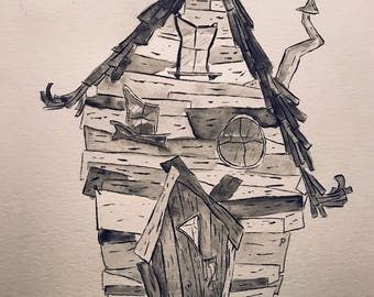 Little Crooked House - Inktober 2017