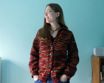 Knitting Pattern PDF - Oversized Raglan Cardigan