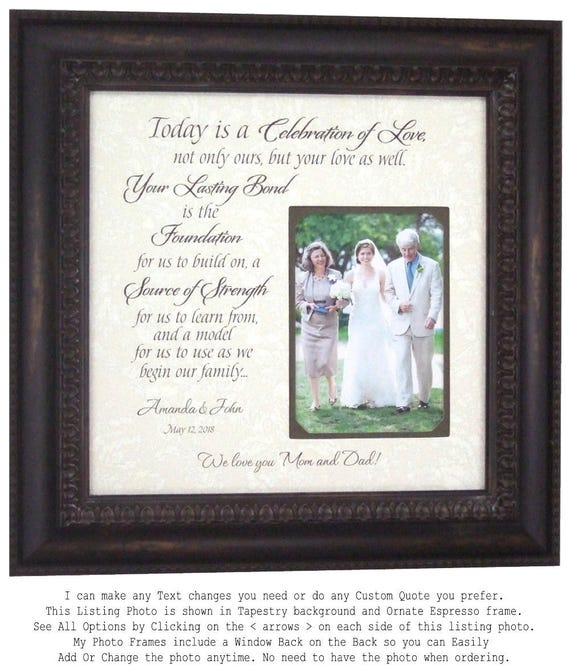 Personalized Wedding Picture Frame, Wedding Gift parents double ...