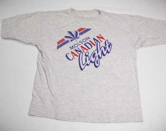 Vintage 90s Molson Canadian Light Beer T-Shirt