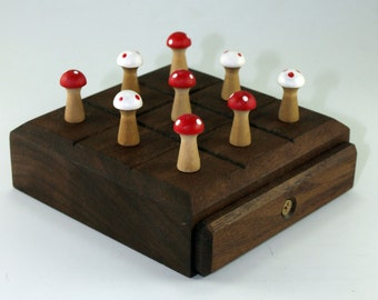 Handmade Wooden Tic Tac Toe Game
