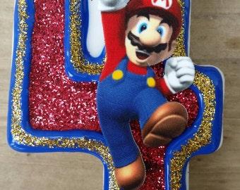 Mario Candle, Mario Birthday, Video Game Birthday candle