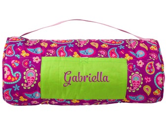 Paisley Nap Mat Personalized Girl Daycare Preschool Monogrammed Toddler