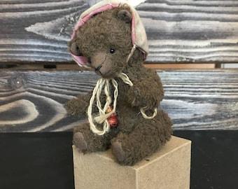Teddy Bear in a rabbit hat Miniature