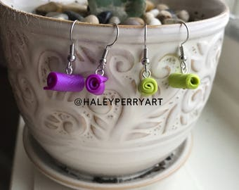 Yoga mat earrings