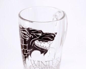 House Stark Mug, Game of Thrones Mug, Winterfell, Jon Snow Mug, Direwolf Mug, Game of Thrones Gift, Winter Is Coming Mug, Nights Watch