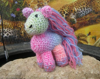 Pony plush toy/decoration Luciolequibricole 15 cm Rainbow