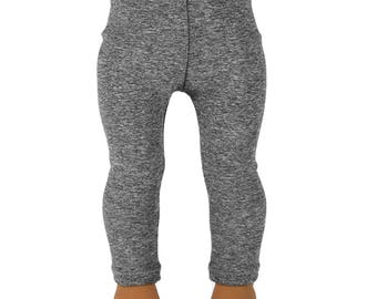 """Leggings - Heather Grey Performance Fabric - Doll Clothes made to fit 18"""" American Girl Dolls"""