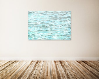 """Water Ripples Canvas Art, Baby Blue Wall Decor, Water Art, Ocean Canvas Art, Blue Water Art Print - """"The Refreshing Feel of Summer"""""""