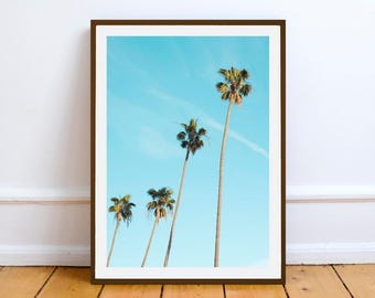 Palm trees desert Wall art print - Printable Digital Download - wall poster print - Summer Sunshine Home Decor