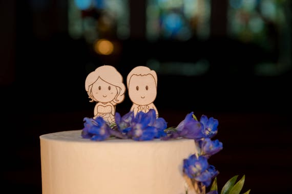 personalized cartoon wedding cake toppers personalized wedding cake topper wooden 18261