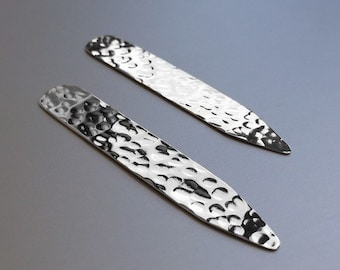 SILVER COLLAR STAYS // Men's Sterling Silver Collar Stays