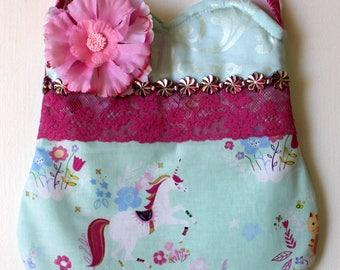 Unicorn friend Purse, girls purse, toddler purse, spring purse, girlie purse