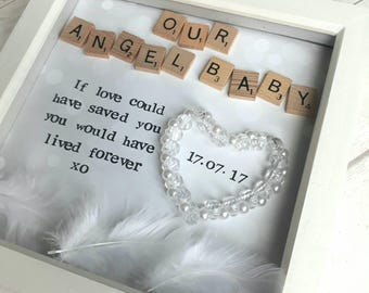 Baby Memorial Frame, Bereavement Gift, Rainbow Baby, Sympathy Gift, Memorial Keepsake, Infant Loss,  Rememberence Gift, Miscarriage Keepsake