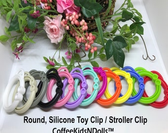 Silicone Stroller Clip // Toy Clip // Silicone Clip // Toy Hanger // Stroller Clip // Toy Making // DIY // Baby Teething // You Choose