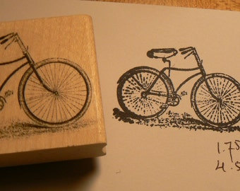 P25 Bicycle rubber stamp WM