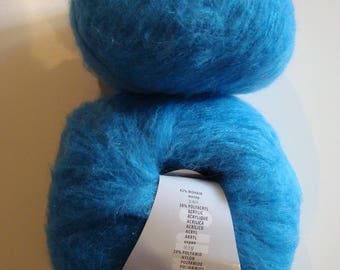 Wool Mohair ODEON LANG Yarns - 50 g - 5, 5-6 - blue needles