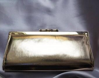 Gold clutch bag 60s
