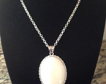 Amazonite Gemstone Necklace, Amazonite Gemstone Oval Pendant Necklace