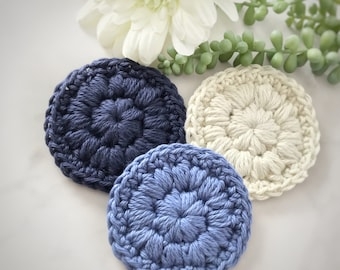 Face scrubbies • Facial wipes • Make up wipes • Face cloths • Cotton face cloth • Reusable cotton pads • Face wash cloth • Crochet scrubbies
