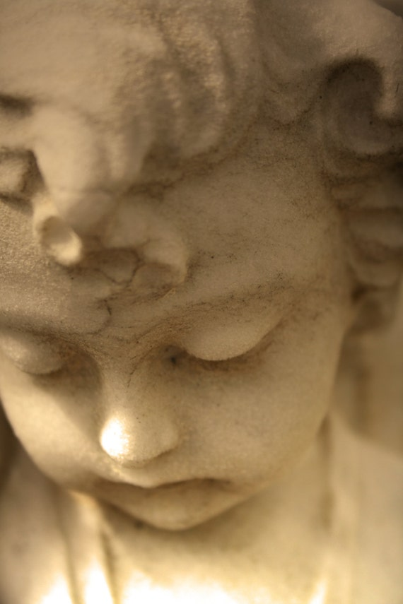 """Child's Angel Statue (5"""" x 7"""" photographic greeting card - blank inside/with envelope)"""