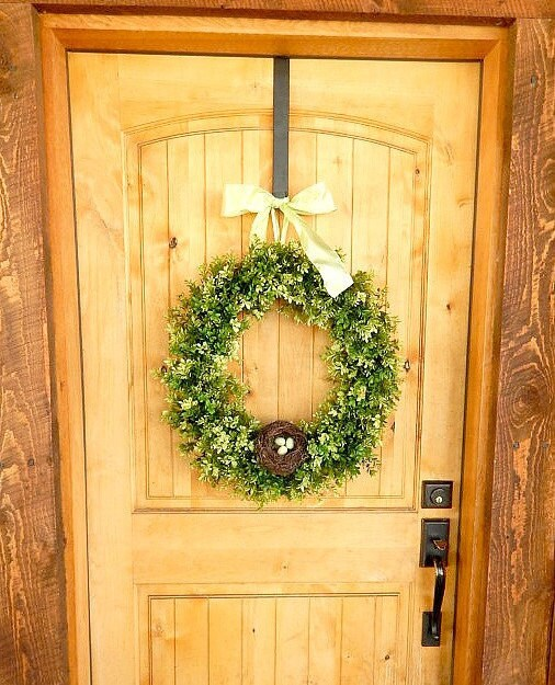 SPRING Boxwood Door Wreath Spring Home Deco Large Door Wreath Easter  Boxwood Wreath Summer Door Wreath Custom  Choose Scent And Ribbon