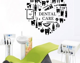 Dental Clinic Quote Wall Decal Dentist Smile Wall Art Stickers Decals Dental Wall Stickers Teeth clinic Removable Tooth Decor 566RE