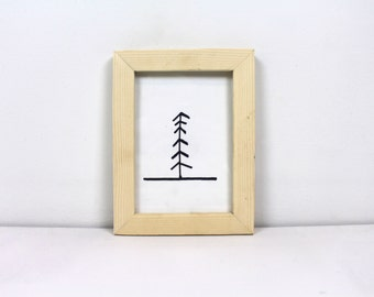 Solid Wood Natural Pine Picture Frame